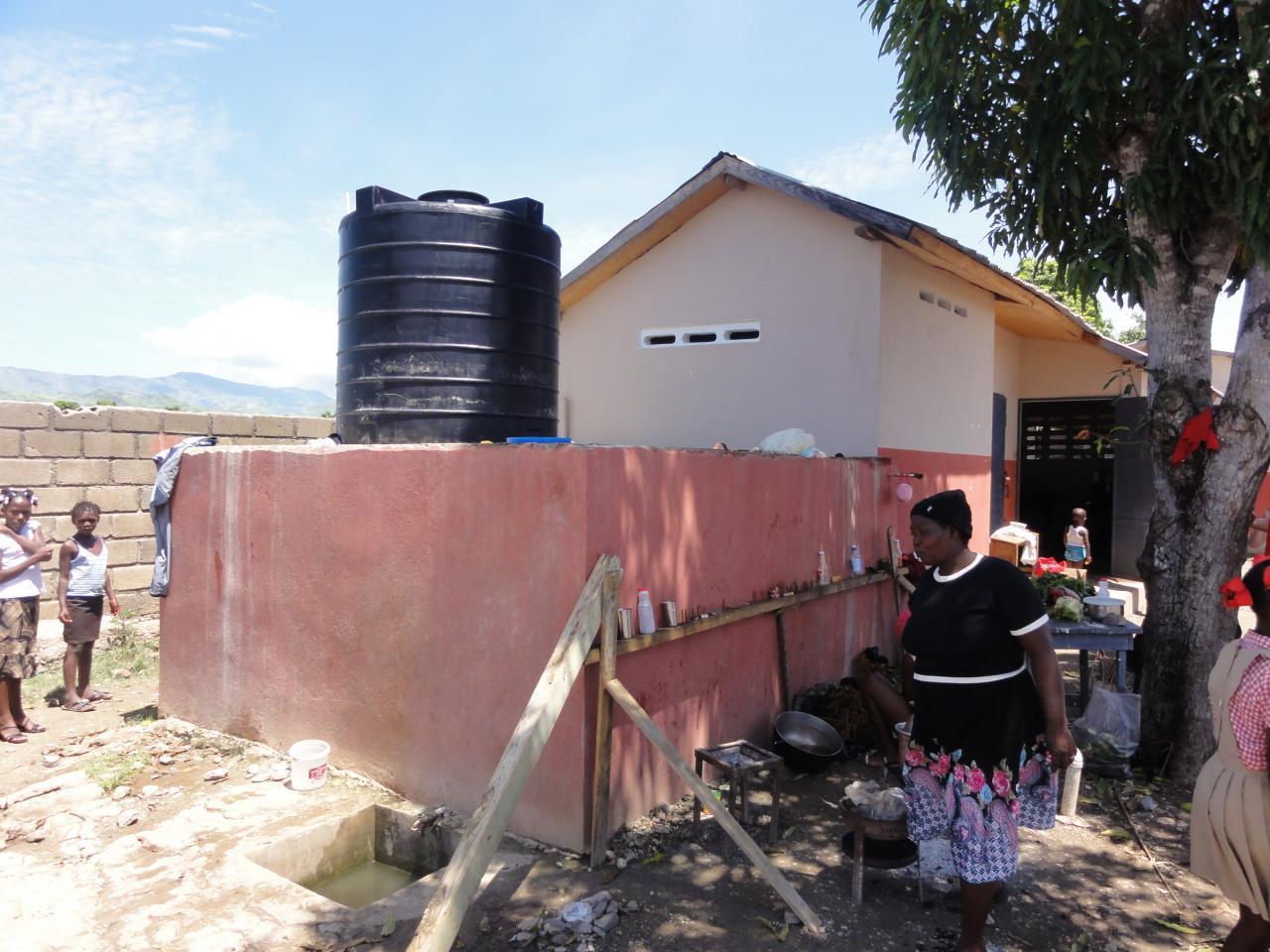 Cuisine et réservoir à eau